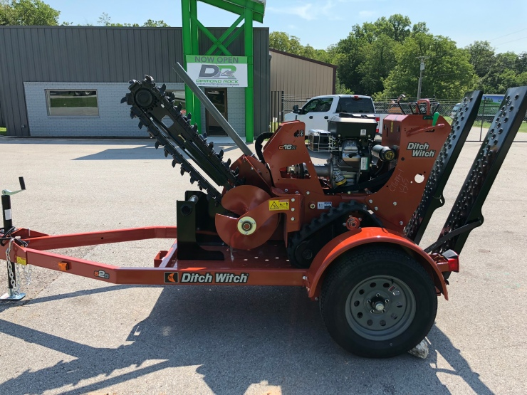 Ditch Witch C16 X walk behind trencher